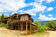 Wooden house in Thailand Royalty Free Stock Photos