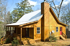 Wooden House with Tin Roof Royalty Free Stock Photo