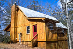 Wooden House with Tin Roof royalty free stock images