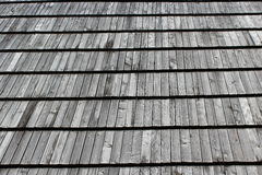 Wooden house-top in Western Ukraine Royalty Free Stock Image