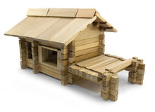 Wooden house toy Stock Photos