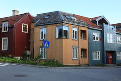 Wooden house in Trondheim, Norway Royalty Free Stock Photography