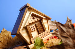 Wooden House under Blue Sky Royalty Free Stock Images