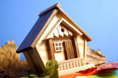 Wooden House under Blue Sky Stock Photography