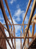Wooden house under construction. All these photos are a new neighborhood under construction in vancouver washington stock image