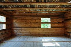 Wooden house under construction Royalty Free Stock Photo