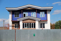 Wooden house. In the village Royalty Free Stock Photo