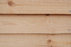 Wooden house wall. Pinewood wall of the house Royalty Free Stock Photo