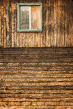 the wooden house wall with window royalty free stock photos