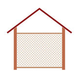 Wooden house for the well  illustration Stock Photography
