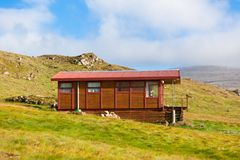 Wooden House at West Iceland Royalty Free Stock Images
