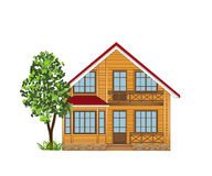 Wooden house on a white background Royalty Free Stock Photo