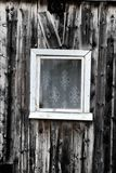 Wooden house, window. Dying Russian village Stock Photography
