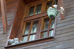 Wooden house window Royalty Free Stock Photos