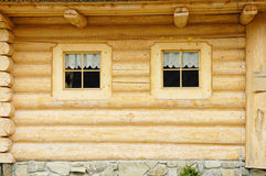 Wooden house windows Royalty Free Stock Images