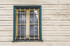 Wooden house windows Stock Image