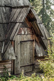 Wooden house in the woods Royalty Free Stock Photos