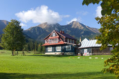 Wooden house at Zdiar, Belianske Tatry Royalty Free Stock Images