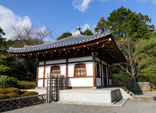 A wooden house at the zen garden in Kyoto, Japan Royalty Free Stock Photos