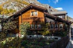 Wooden house in Zermatt Resort,  Valais, Switzerland Stock Images