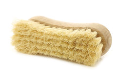 Wooden household brush Royalty Free Stock Images