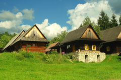 Wooden houses Stock Image