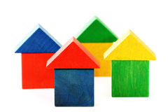 Wooden houses stock photography