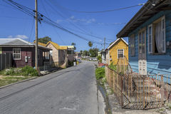 Wooden houses in Barbados royalty free stock photo