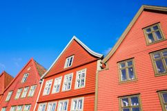Wooden houses, Bergen Bryggen, Norway Royalty Free Stock Image