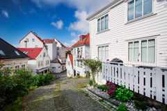 Wooden houses in Bergen, Norway. Wooden houses and alley in Bergen, Norway Royalty Free Stock Image