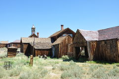 Wooden houses, Bodie ghost town Royalty Free Stock Photography