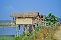 Wooden houses built on high stilts called Stock Photography