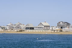 Wooden houses on Cape Cod stock photo
