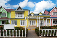 Wooden houses Caribbean in Samana resort Royalty Free Stock Images