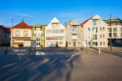 Wooden houses, Gamle Stavanger. Traditional wooden houses in Gamle Stavanger. Gamle Stavanger is a historic area of the city of Stavanger in Rogaland, Norway Royalty Free Stock Image
