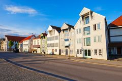 Wooden houses, Gamle Stavanger. Traditional wooden houses in Gamle Stavanger. Gamle Stavanger is a historic area of the city of Stavanger in Rogaland, Norway Stock Images