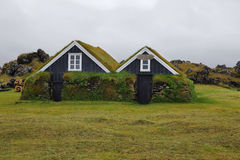 Wooden houses of Hellissandur Stock Photo