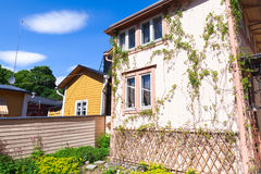 Wooden houses of historical town Porvoo Royalty Free Stock Photos