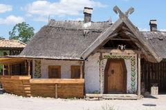 Wooden houses, Kiev, Ukraine Stock Images