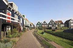 Wooden houses in Marken  in Holland Stock Photo