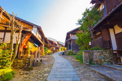 Wooden Houses Nakasendo Trail Magome Morning Stock Photo