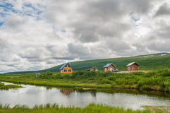 Wooden houses in nature Royalty Free Stock Photos
