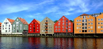 Wooden Houses in Norway Royalty Free Stock Photo