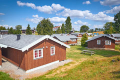 Wooden houses in Norway Stock Images