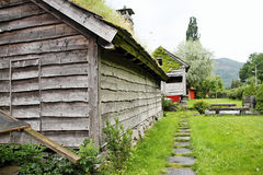 Wooden houses now serve more as skanzen Norway Stock Photography