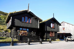 Wooden houses now serve more as skanzen Norway Stock Images