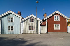 Wooden houses in Nykoping Royalty Free Stock Photography