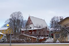 Wooden houses of Porvoo Royalty Free Stock Photos