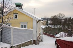 Wooden houses of Porvoo Stock Image