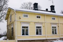 Wooden houses of Porvoo Stock Photos